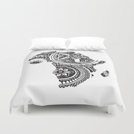 African Tribal Pattern No. 63 Duvet Cover
