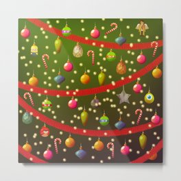 Look at these Christmas decorations! Metal Print