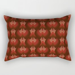 Dragon Scales - Rust Rectangular Pillow