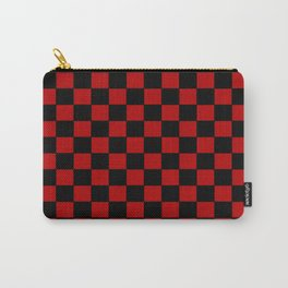 Checkers - Black and Red Carry-All Pouch