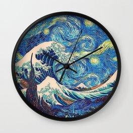 Starry Night (Sun&Water) Wall Clock