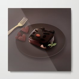 Chocolate Brownie Metal Print