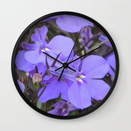 Crystal Lobelia Wall Clock
