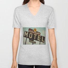 La Casa Del Sol Vintage Motel Sign Unisex V-Neck