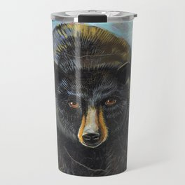 Blackbear in Mountains by Robynne Travel Mug
