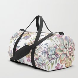 succulent watercolor 10 Duffle Bag