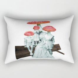 amanita muscaria with children Rectangular Pillow