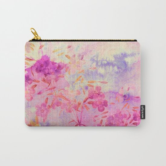 pink flowers and blue sky Carry-All Pouch