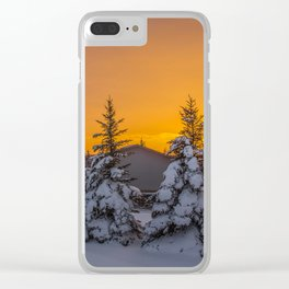 Winter Sunset 4 Clear iPhone Case