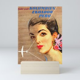 Avianca Airline - Vintage Columbian Travel Poster Mini Art Print