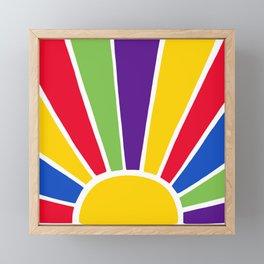 Colourful Sun Ray Burst Framed Mini Art Print