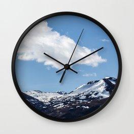 Snow Tops Wall Clock