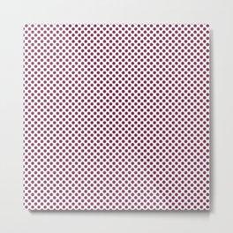 Raspberry Radiance Polka Dots Metal Print