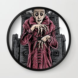 Nosferatu vampire classic horror black custome Wall Clock