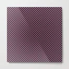 Black and Fuchsia Pink Polka Dots Metal Print