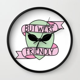 We Are Friendly Wall Clock