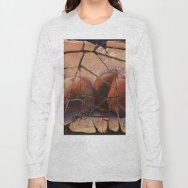 The Pears Fresco With a Crackle Finish #Society6 Long Sleeve T-shirt