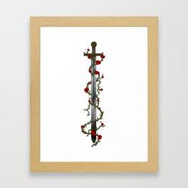 Rose Sword Framed Art Print