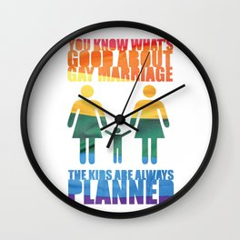 LGBT Parenting Wall Clock