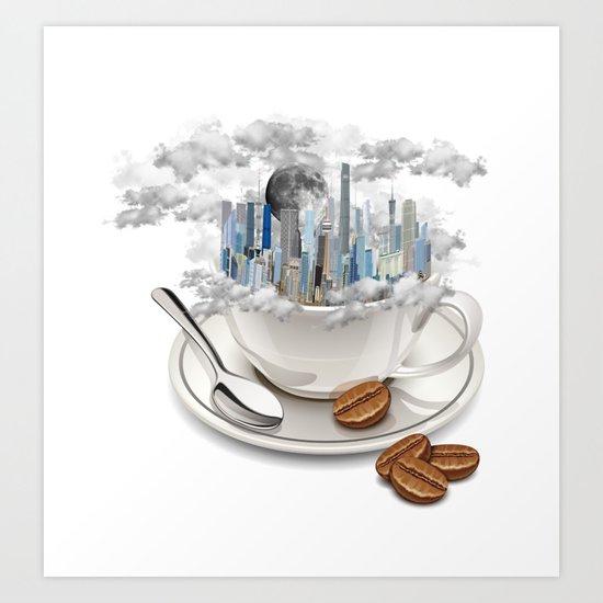 Coffe City Art Print