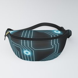 A completely seamless background design circuitry Fanny Pack