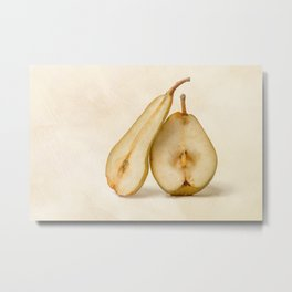 Pears - My Sweet And Perfect Half Metal Print
