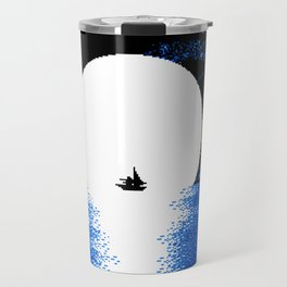 Gazing the Moon at the Celestial Seashore Travel Mug