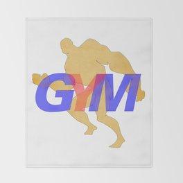 GYM Man 6 Throw Blanket