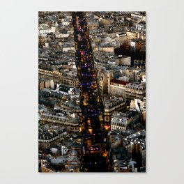 Paris by Night Canvas Print