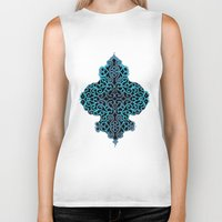 celtic Biker Tanks featuring celtic blue by Ariadne