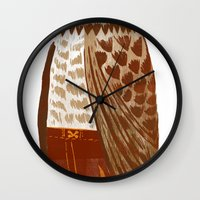 hip hop Wall Clocks featuring Hip Hop Owl by Santiago Uceda