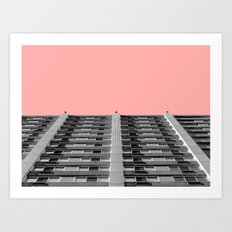 The sky was pink Art Print