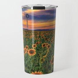 Sunflower fields Travel Mug
