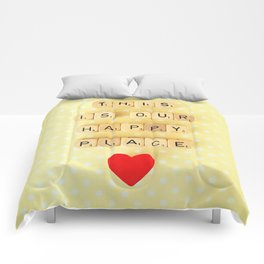 This is Our Happy Place ♥ Comforters