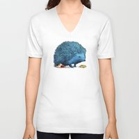 sonic V-neck T-shirts featuring Sonic (color option) by Eric Fan