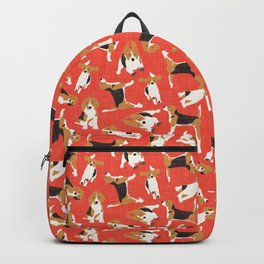 beagle scatter coral red Backpack
