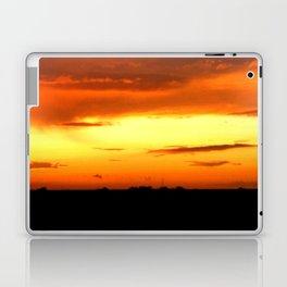 Sunset Over The Fields Laptop & iPad Skin