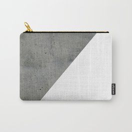 Concrete Vs White Carry-All Pouch