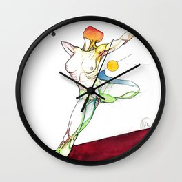 The Russian, female surrealist ballerina, NYC artist Wall Clock