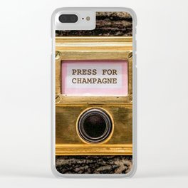 Champers Clear iPhone Case