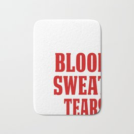 Funny Baseball Catcher Design My Blood Bath Mat
