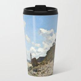 Monet - The Beach at Honfleur, 1864 Travel Mug