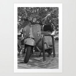 Vintage Scooter Bike Art Print