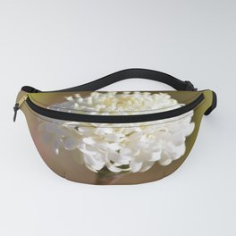 Desert White Wildflower Bloom by Reay of Light Photography Fanny Pack