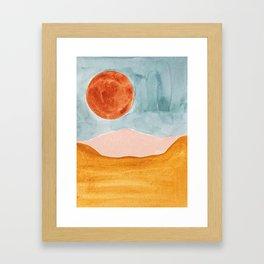 bohemian landscape Framed Art Print