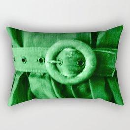 Green Vintage BELT Rectangular Pillow