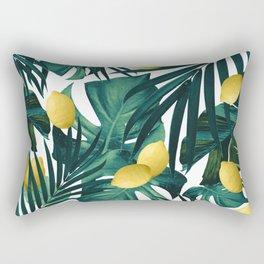 Tropical Lemon Twist Jungle #1 #tropical #decor #art #society6 Rectangular Pillow