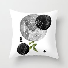 B-plus. Throw Pillow
