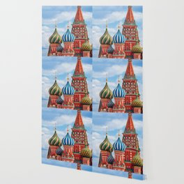 St. Basil's Cathedral in Moscow, Russia. Wallpaper
