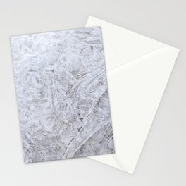 White Ice Abstract Natural Art Stationery Cards